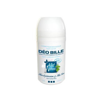 Déodorant bille mentholé à l'alun de potassium - Allo'Nature - Hygiène