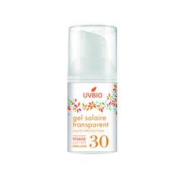 Gel solaire SPF 30 transparent visage - UVBIO - Sun