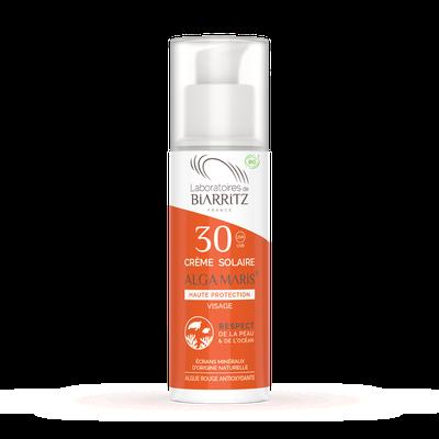 Crème solaire Visage ALGA MARIS® SPF30 - LABORATOIRES DE BIARRITZ - Solaires