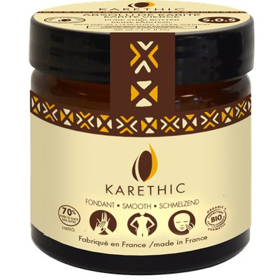 Velouté de Karité pur - soin cocon - parfum mangue fraîche - KARETHIC - Visage - Corps