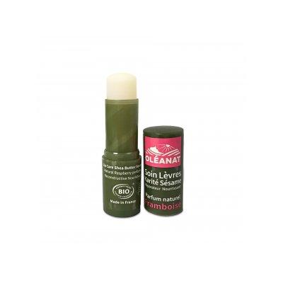 Baume à lèvres karité sésame parfum framboise - OLEANAT - Visage