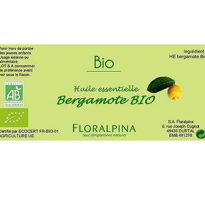 HE de Bergamote - Floralpina - Massage et détente