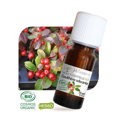 Huile essentielle Gaulthérie odorante Bio - Joli'Essence - Ingrédients diy