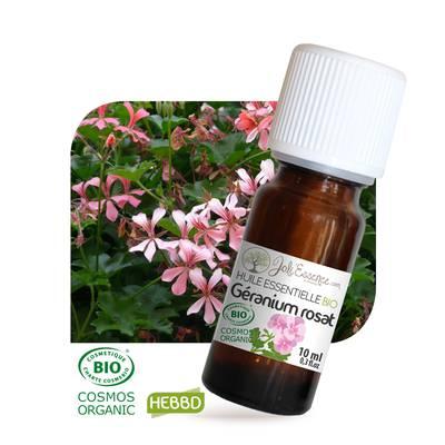 Huile essentielle Géranium rosat Bio - Joli'Essence - Ingrédients diy