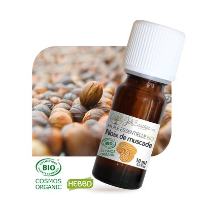 Huile essentielle Noix de muscade Bio - Joli'Essence - Ingrédients diy