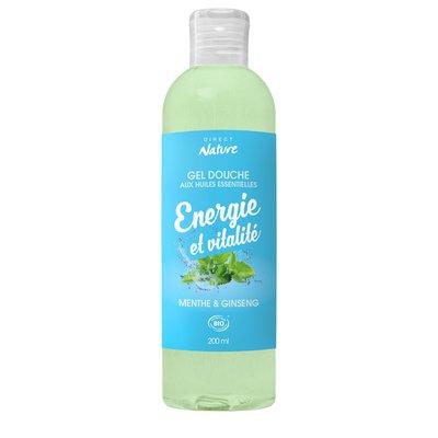 Gel Douche Energie et Vitalité - Menthe & Ginseng - Direct Nature - Hygiène