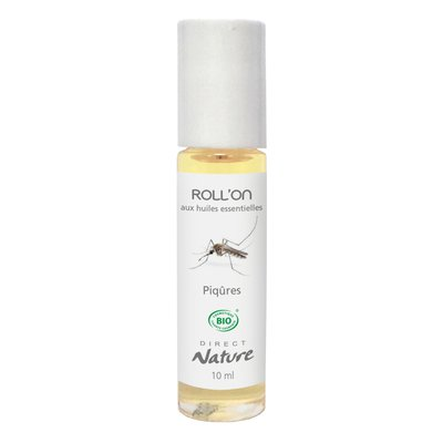 Roll'On aux Huiles Essentielles - Piqûres - Direct Nature - Santé - Massage et détente