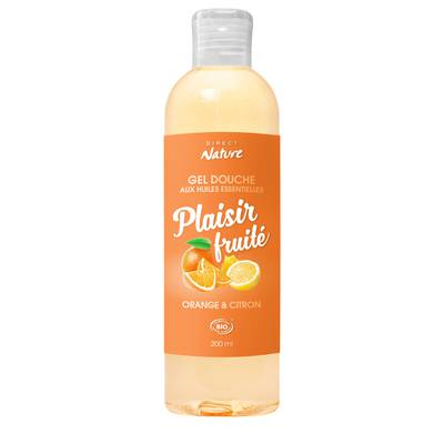 Gel Douche Plaisir Fruité - Orange & Citron - Direct Nature - Hygiene