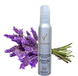Huile de massage à l'huile essentielle biologique de Lavande - Tulécos - Massage et détente