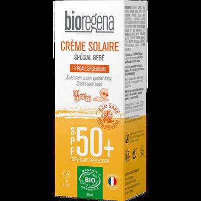 CRÈME SOLAIRE SPÉCIAL BÉBÉ SPF 50+ - Bioregena - Solaires