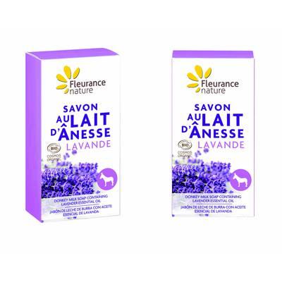 Savon au lait d'ânesse à la lavande - Fleurance Nature - Hygiène