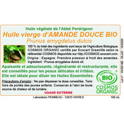 Vegetal oil - Abbé Perdrigeon - Massage and relaxation