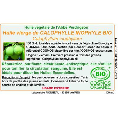 Huile végétale de calnophylle inophyle - Abbé Perdrigeon - Corps - Massage et détente