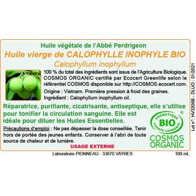 Huile végétale de calnophylle inophyle - Abbé Perdrigeon - Massage et détente - Corps
