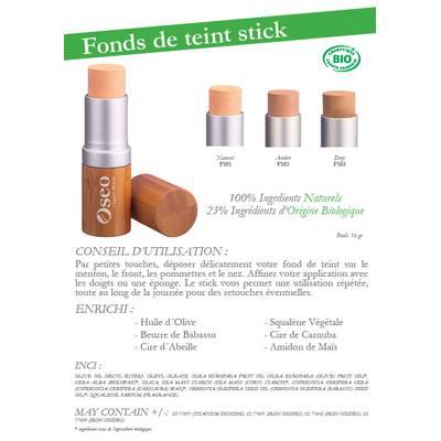 Fonds de teint stick - Oseo Organic Beauty - Maquillage