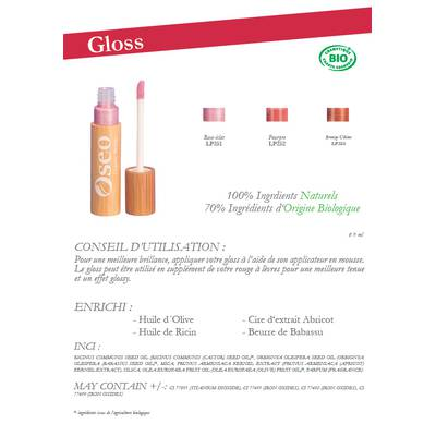 Gloss - Oseo Organic Beauty - Maquillage