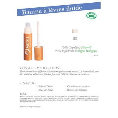 Baume à lèvres Fluide - Oseo Organic Beauty - Maquillage