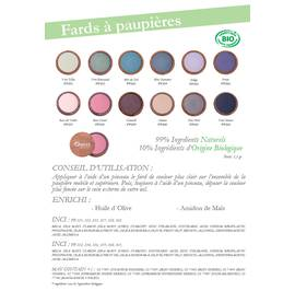 Fards à paupières - Oseo Organic Beauty - Maquillage