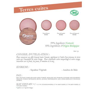Terres cuites - Oseo Organic Beauty - Maquillage