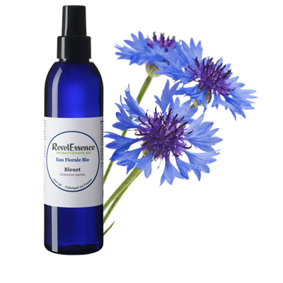 Eau Florale de Bleuet Bio - Revelessence - Visage