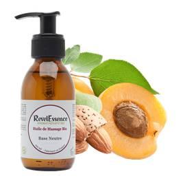 Huile de Massage bio - Base Neutre - Revelessence - Massage et détente - Ingrédients diy
