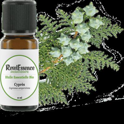 Huile Essentielle Bio Cyprès - Revelessence - Massage et détente