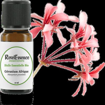 Huile Essentielle Bio Géranium Afrique - Revelessence - Massage et détente