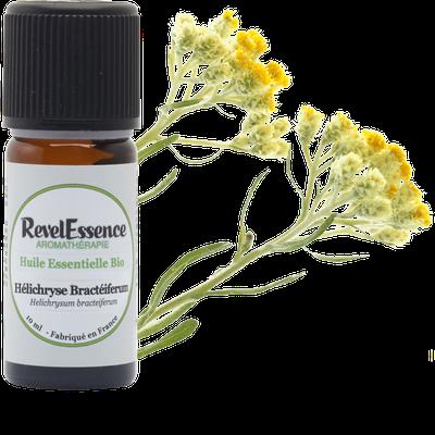 Huile Essentielle Bio Hélichryse Bractéiferum - Revelessence - Massage and relaxation