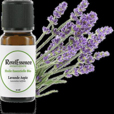 Huile Essentielle Bio Lavande Aspic - Revelessence - Massage et détente
