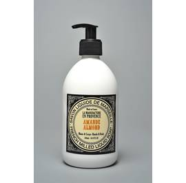French Milled Liquid Soap Almond 500ml and 1L - La Manufacture en Provence - Hygiene