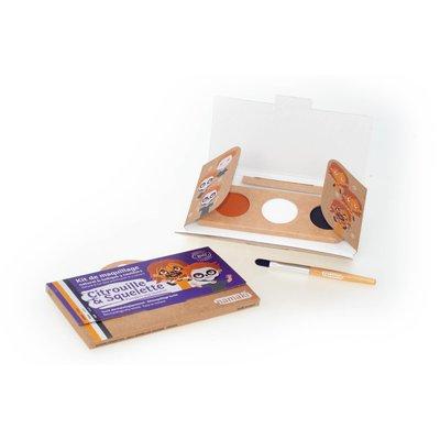"""Kit de maquillage 3 couleurs """"Citrouille & Squelette"""" - Namaki - Maquillage"""