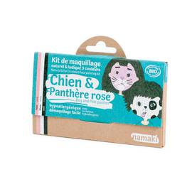 Dog & Pink Panther 3 colours face painting kit - Namaki - Make-Up