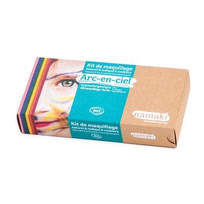Kit de maquillage 8 couleurs Arc-en-ciel - Namaki - Maquillage