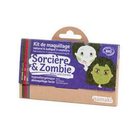 Kit de maquillage 3 couleurs Sorcière & Zombie - Namaki - Maquillage