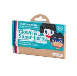 image produit Clown & super-hero 3 colours face painting kit
