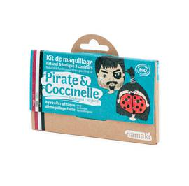 Kit de maquillage 3 couleurs Pirate & Coccinelle - Namaki - Maquillage
