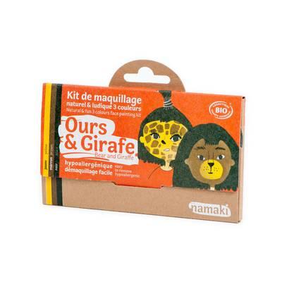 Kit de maquillage 3 couleurs Ours & Girafe - Namaki - Maquillage