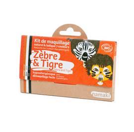 Kit de maquillage 3 couleurs Zèbre & Tigre - Namaki - Maquillage