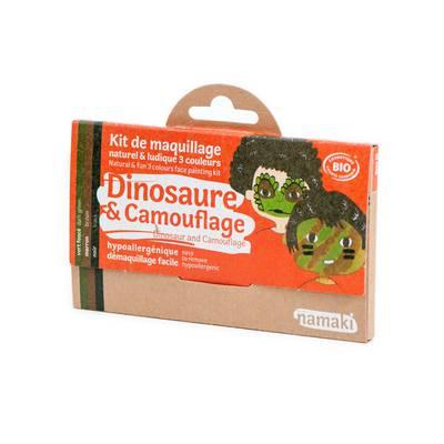 Dinosaur & Camouflage 3 colours face painting kit - Namaki - Make-Up