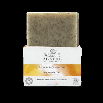 Soap with snail secretion BIO MENTHE - Mlle Agathe - Face - Hygiene