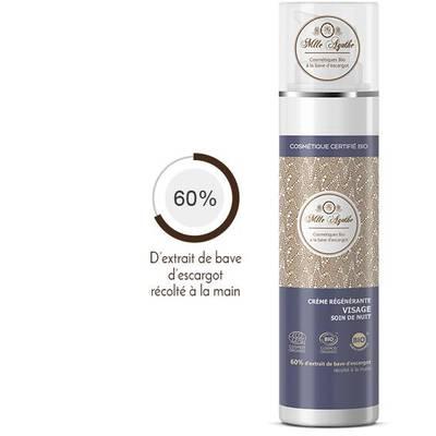 Crème régénératrice à base de bave d'escargot / Soin Nuit - Mlle Agathe - Visage