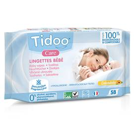 Lingettes compostable sans parfum Tidoo Care - TIDOO - Baby / Children