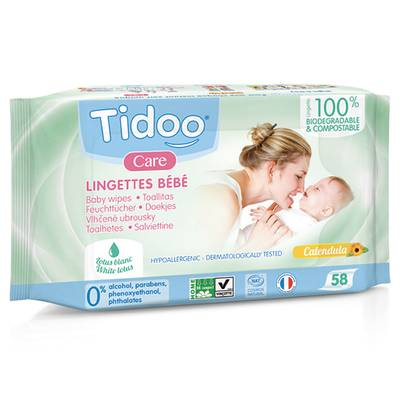 Lingettes compostable parfumées - TIDOO - Body - Baby / Children