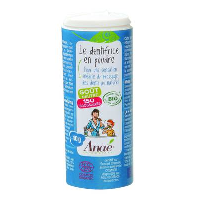 Dentifrice en poudre goût neutre - Anaé Ressources - Hygiène