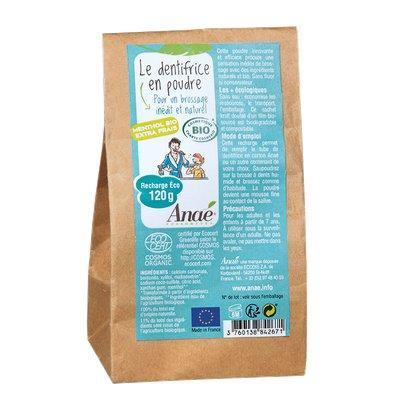 Le dentifrice en poudre/ goût menthol Recharge Eco - Anaé Ressources - Hygiène
