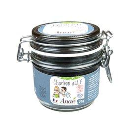 Charbon actif pot en verre - Anaé Ressources - Ingrédients diy