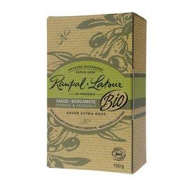 Les bios savon ovale Sauge Bergamotte - RAMPAL LATOUR - Hygiène