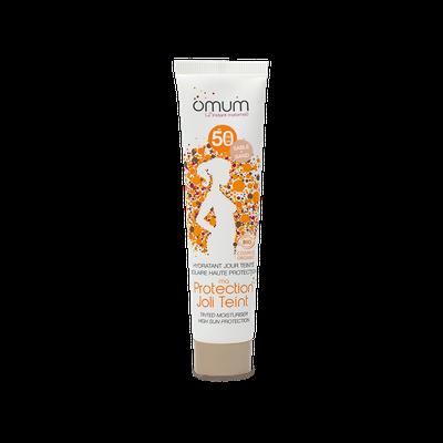 Ma Protection Joli teint - Hydratant visage teinté SPF 50 (sable ou doré) - OMUM - Solaires