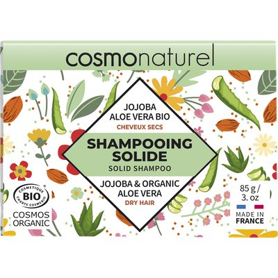 SHAMPOOING SOLIDE CHEVEUX SECS - COSMO NATUREL - Cheveux