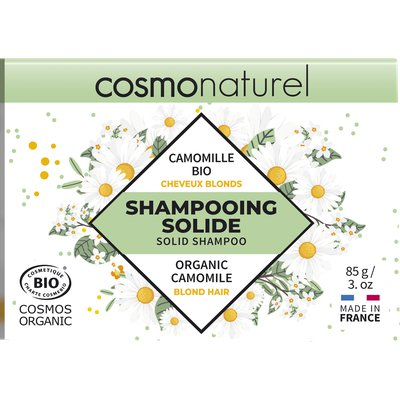 SHAMPOOING SOLIDE CHEVEUX BLONDS - COSMO NATUREL - Cheveux